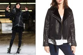 leather biker jackets for sale the best winter coats inspired by new york fashion week