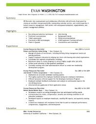 Human Resource Specialist Resume Jobs Resume Samples Inspiration Decoration Employment Sample