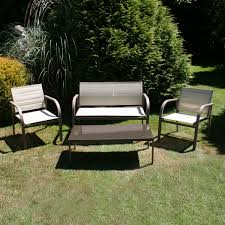 Mesh Patio Table by Charles Bentley Garden Modern Mesh Lounge Outdoor Furniture Set