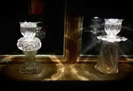 Christmas Lights In A Vase Christmas Lights One Antique Vintage Crystal Glass Solar Led Ligh