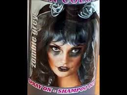 spray wash zombie grey gray hair color temporary hairspray