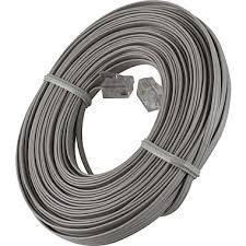 power gear 50 u0027 ultra thin line phone cord dove gray staples