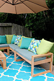 Free Diy Patio Table Plans by Free Diy Outdoor Sofa Plans Gray House Studio
