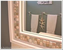 decorate a bathroom mirror how to decorate a mirror with tile bathroom mirrors decorating
