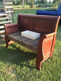 full size headboard bench we made out of a curbside find my