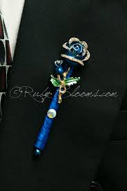 royal blue boutonniere royal blue groom boutonniere groom prom brooch