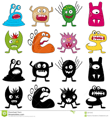 halloween funny monsters set stock photos image 33641843