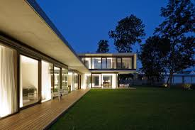 cantilevered house in the town of hard austria
