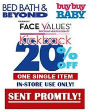 Bed Bath Beyond In Store Coupon Bed Bath U0026 Beyond Department Store Coupons Ebay