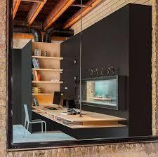 bureau beton ciré bureau suspendu en bois massif peinture noir mat chaise design