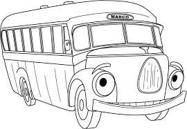 cartoon colouring marco malta busmarco malta bus
