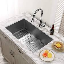 what size undermount sink for 33 inch base cabinet kitchen sink mensarjor 32 x 19 undermount single bowl 16 stainless steel kitchen sink with accessories