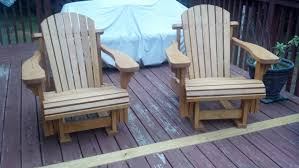 Gliding Chairs Adirondack Gliding Chairs Rick Made For The Deck Projects By