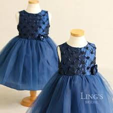 ling u0027s wedding dark blue baby dress kids princess skirt