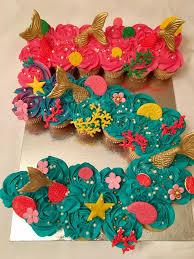 Best  Mermaid Cupcake Cake Ideas On Pinterest Mermaid - Pull apart cupcake designs