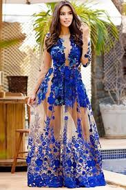 royal blue dress royal blue sleeves appliques floor length prom dress