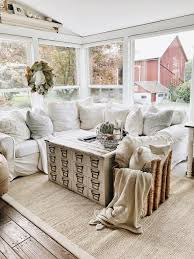 Slipcover Furniture Living Room 35 Best Farmhouse Living Room Decor Ideas And Designs For 2017