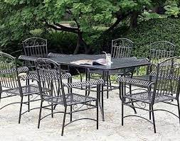 Wrought Iron Patio Chair Cushions Chair Stunning Black Metal Patio Furniture With Wrought Iron