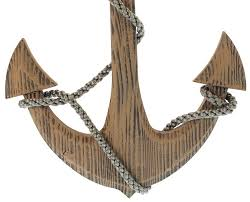 wooden anchor wall 24 wooden boat anchor with crossbar nautical decor