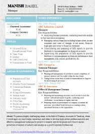 Best Resume Format For Experienced by One Page Resume Format Free Download Resume Format