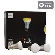 home depot hue lights philips hue a19 smart led light bulb starter kit 426353 multi