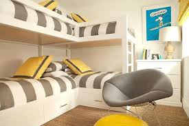 Bunk Beds L Shaped L Shaped Bunk Beds L Shaped Bunk Beds With Gray Awning Stripe