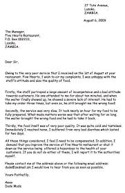 best solutions of example of a complaint letter for resume