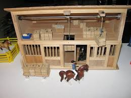 Toy Barns Toy Horse Barn With Working Hay Bale Hoists By Johnzo