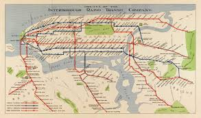 Map Of Ny City Map Of Nyc Subway Routes 1924