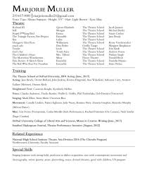 creative writing resume acting resume marjorie muller acting resume