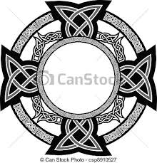 celtic cross the vector image of cross with celtic patterns vectors