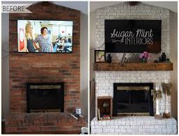 Diy Fireplace Cover Up 25 Best Fireplace Makeovers Ideas On Pinterest Brick Fireplace