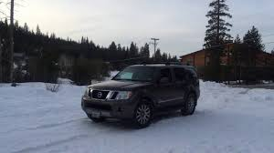 nissan pathfinder with rims nissan pathfinder on snow 2wd vs 4wd youtube