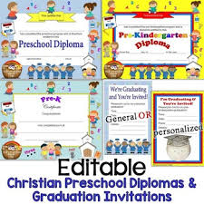 kindergarten graduation invitations religious christian preschool diplomas graduation invitations