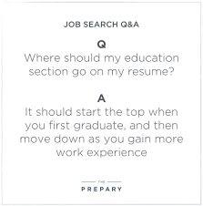 Resume Education Section Where To Put Your Education Section On A Resume The Prepary