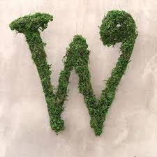 moss covered letters s day flowers moss covered initial wreath flowering
