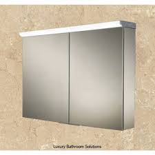 hib xenon 120 led aluminium illuminated bathroom cabinet 46300