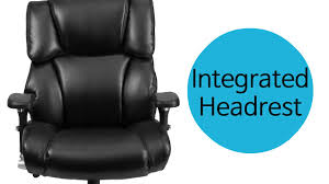 Blue Leather Executive Office Chair Husky Office Big U0026 Tall 24 7 Use 400 Lb Black Leather Executive