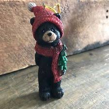 Black Bear Christmas Tree Ornaments by Bear Christmas Ornaments 1991 Now Ebay
