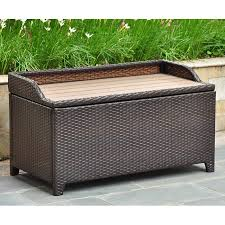 Barcelona Outdoor Furniture by Barcelona Outdoor Storage Trunk Bench Chocolate Wicker Dcg