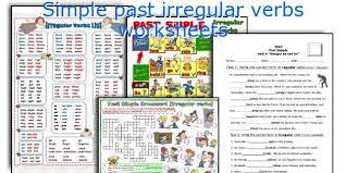 english teaching worksheets simple past irregular verbs