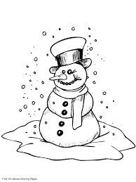 8 images frosty snowman free printable coloring pages