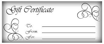 gift certifcate template custom gift certificate templates for