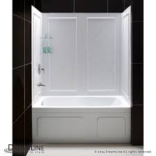 tub with glass door dreamline showers visions sliding tub door u0026 backwalls