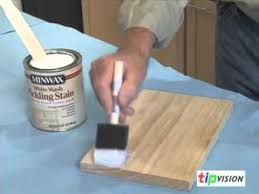 How To Remove Oil Stains From Wood Cabinets Create A Pickled Finish On Wood With Minwax Youtube