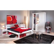 chambre en pin chambre complete fana pin massif blanc
