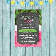 gender reveal invitation template buck or doe gender reveal invitations futureclim info