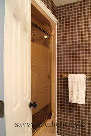 Can You Paint Over Bathroom Tile Savvy Southern Style How To Paint Over Wallpaper