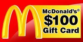 mcdonalds gift card discount get a free 100 mcdonald s gift card the great gift card giveaways