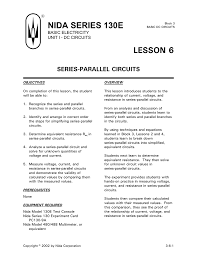 Parallel Circuit Problems Worksheet Parallel Circuit Equations Jennarocca